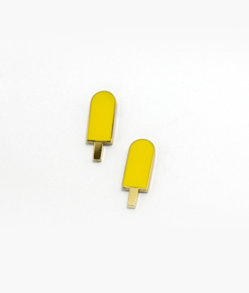 earrings-yellow-ice-cream-enamelled-rossella-catapano-jewelery-designer-01