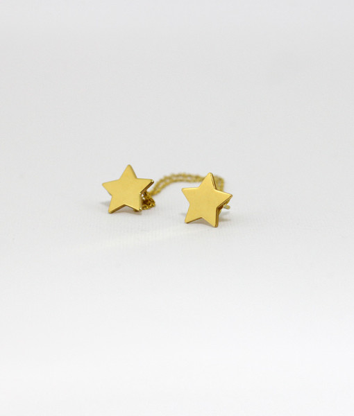 Ear Cuff With Chain Stars | Rossella Catapano Jewelery Designer