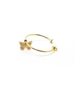 Big Hoop Earring Butterfly is Flying | Rossella Catapano Jewelery Designer