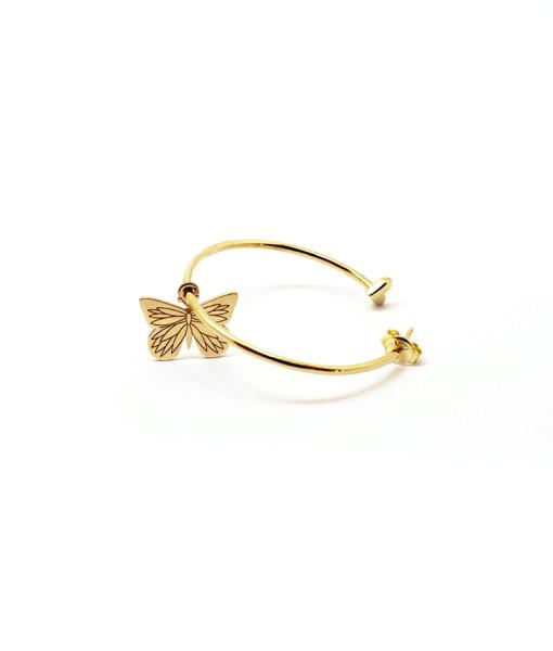 Big Hoop Earring Butterfly is Flying | Rossella Catapano Jewelery Designer