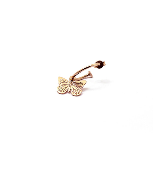 Hoop Earring Butterfly is Flying | Rossella Catapano Jewelery Designer