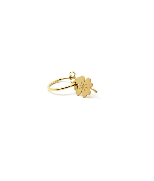 Hoop Earring Lucky Four Leaf   Rossella Catapano Jewelery Designer