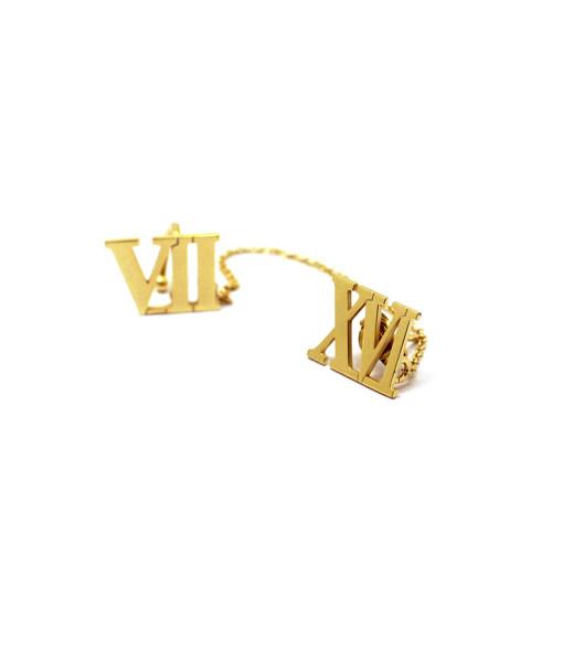 Ear Cuff With Chain With Roman Numerals | Rossella Catapano Jewelery Designer