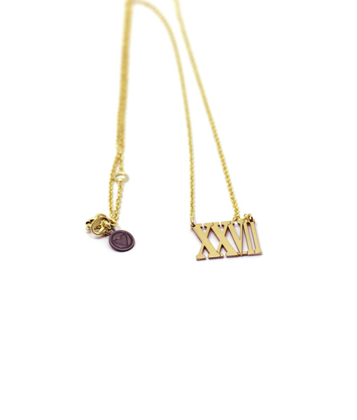 Necklace Roman Numerals | Rossella Catapano Jewelery Designer