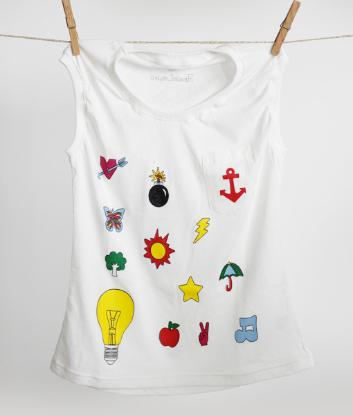 T-Shirt YO Emoticons | Rossella Catapano Jewelery Designer