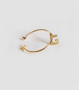 Big hoop earring with letter