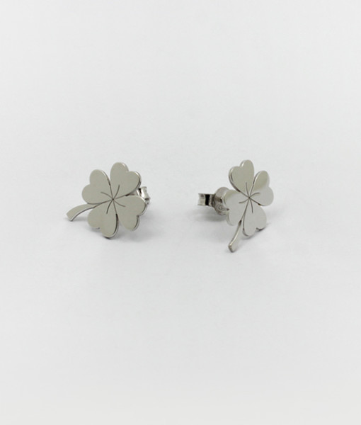 Earring Lucky Four Leaf | Rossella Catapano Jewelery Designer