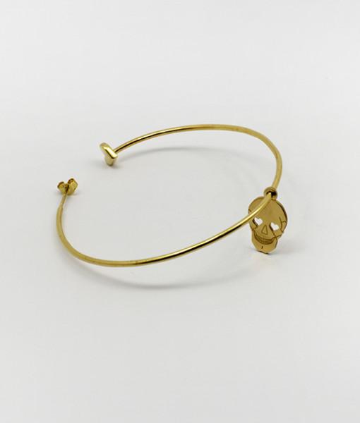 Super Hoop Earring Whit Cute Skull   Rossella Catapano Jewelery Designer