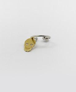 Small Hoop Earring Whit Cute Skull | Rossella Catapano Jewelery Designer