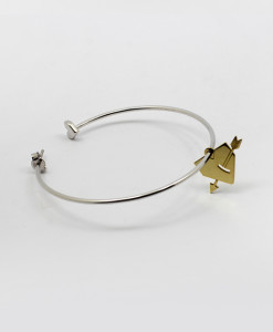Super Hoop Earring With Pierced Heart | Rossella Catapano Jewelery Designer
