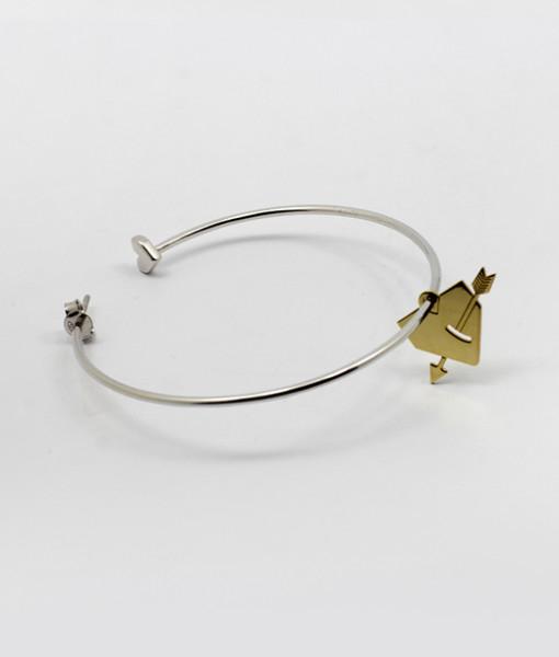 Super Hoop Earring With Pierced Heart | Rossella Catapano Jewelery Designer