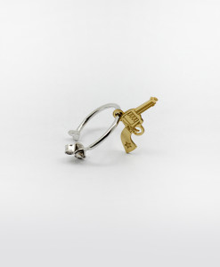 Hoop Earring With Wild Gun | Rossella Catapano Jewelery Designer