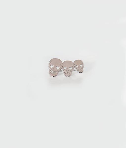 Ear cuff Three Cute Skull silver