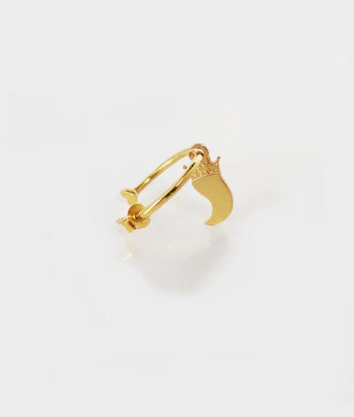 Hoop earring corno gold