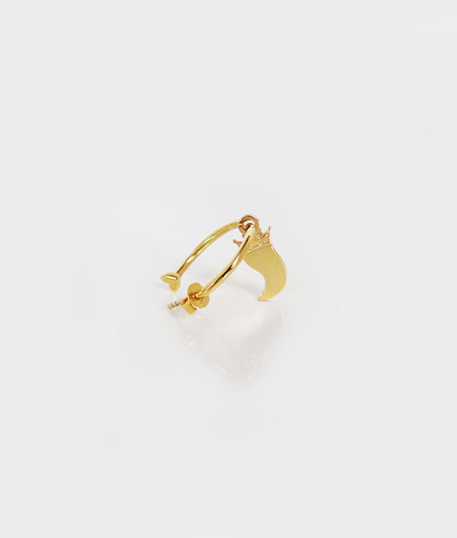 Hoop earring corno2