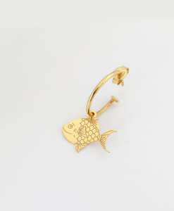 Hoop Earring Alice Fish