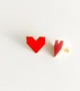 orecchini cuore smalto