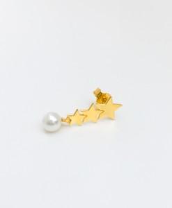 orecchino stars & pearl