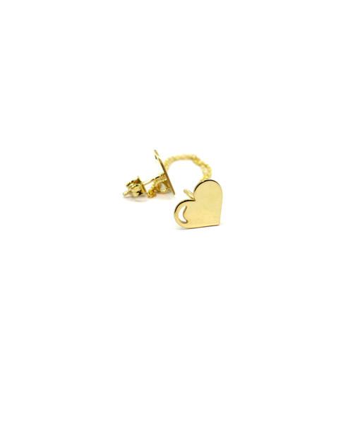 Ear Cuff With Chain Pure Heart   Rossella Catapano Jewelery Designer