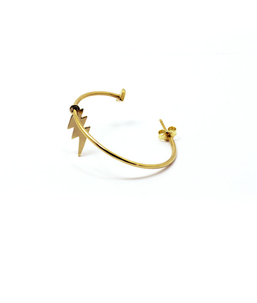 Big Hoop Earring With Lightning   Rossella Catapano Jewelery Designer