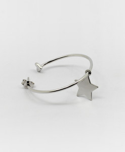 Big Hoop Earring With Star | Rossella Catapano Jewelery Designer