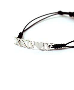 Bracelet Roman Numerals | Rossella Catapano Jewelery Designer