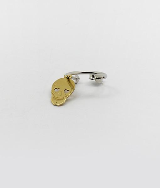 Small Hoop Earring Whit Cute Skull   Rossella Catapano Jewelery Designer