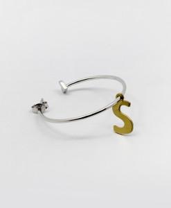Big Hoop Earring Whit Letter | Rossella Catapano Jewelery Designer