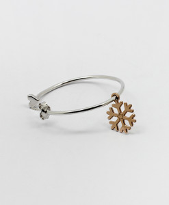 Big Hoop Earring With Sweet Snowflake | Rossella Catapano Jewelery Designer