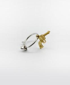 Hoop Earring With Wild Gun | Rossella Catapano Jewelery Designer