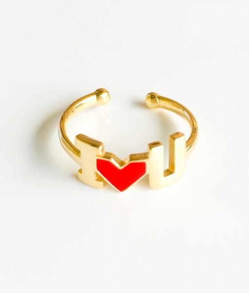 anello i love u dorato